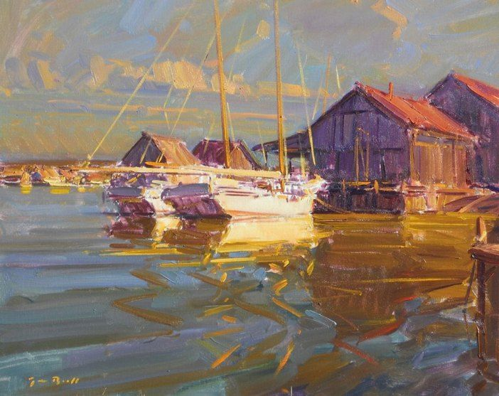 Oyster Boats, Tim Bell. See more of Tim's work at: http://www.southstreetartgallery.com/index.html