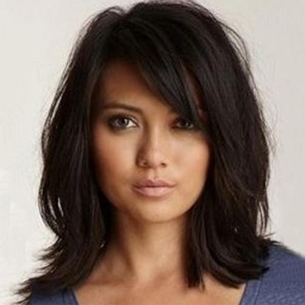 Sexy Attractive Shoulder Length Black Wig