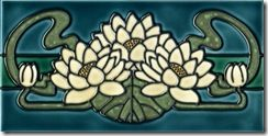 applique inspiration, Art Nouveau border tile