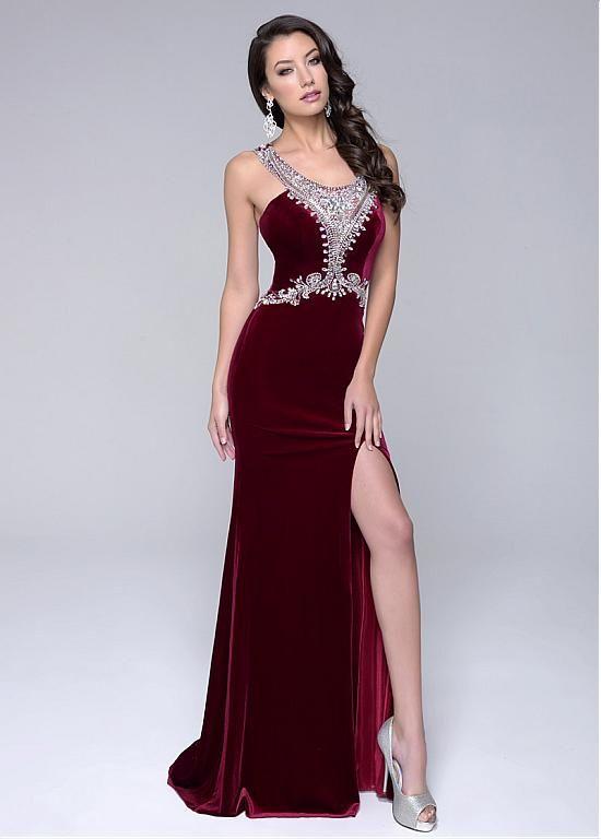 Buy discount Exquisite Fleece Scoop Neckline Mermaid Evening Dresses With Beadings at Dressilyme.com