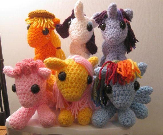 Amigurumi Mane : Mane Six - Save 10% - My Little Pony Friendship is Magic ...