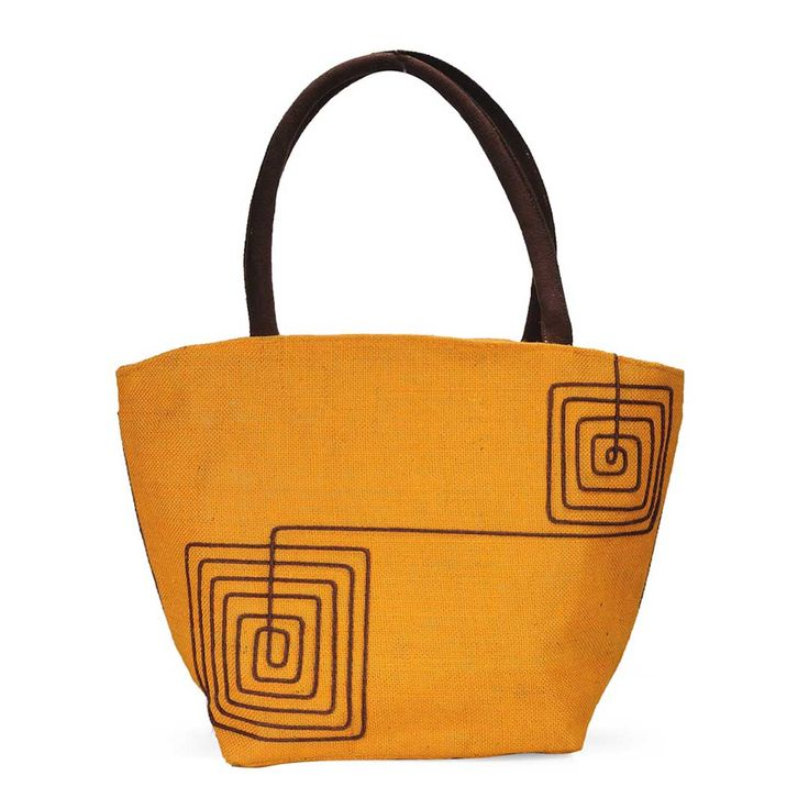 Orange Jute #Handbag by Earthen Me at Rs.524 Only. To Buy Click here>