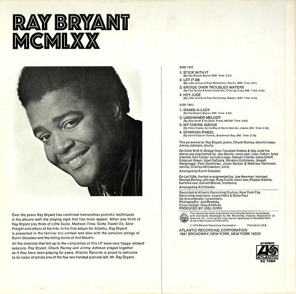 Ray Bryant - MCMLXX at Discogs
