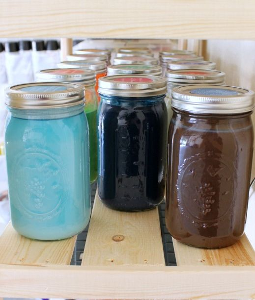 Hi Sugarplum | How to Store Leftover paint. No more messy paint cans eating up all the space in your garage!