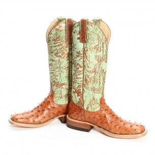 BootDaddy Collection with Anderson Bean Brown Full Quill Ostrich Cowgirl Boots