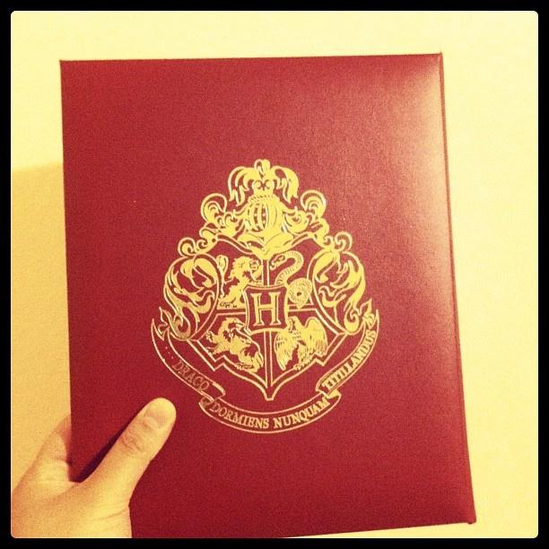 My Harry Potter souvenir photobook! It has the Hogwarts crest on it!! I won't show you my photo though! ;)  #HarryPotter #Potter #JKRowling #Hogwarts #HarryPotterExhibition #HPExhibition #photobook #crest #Ravenclaw