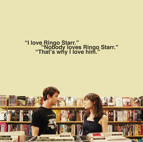 500 days of summer: The Beatles, Ringo Starr, Ringostarr, Summer Movie, Funny Quotes, Zooey Deschanel, Fans Art, Movie Quotes, Summer Quotes