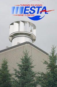 Cela ressemble à un énorme échangeur d'air mais c'est un nouveau prototype  d'éolienne à axe vertical.  Le Cégep de Sorel-Tracy, de concert ...