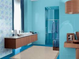 Blue Brown Color Schemes Are Great Choices For Bathroom Decorating With  Items Made Of Wood.Blue Bathroom Paint Colors, Small Bathrooms Wood Looks  Great With ...
