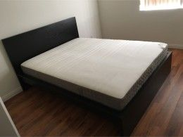 IKEA Malm black-brown bed frame & queen mattress for sale - 5miles ...