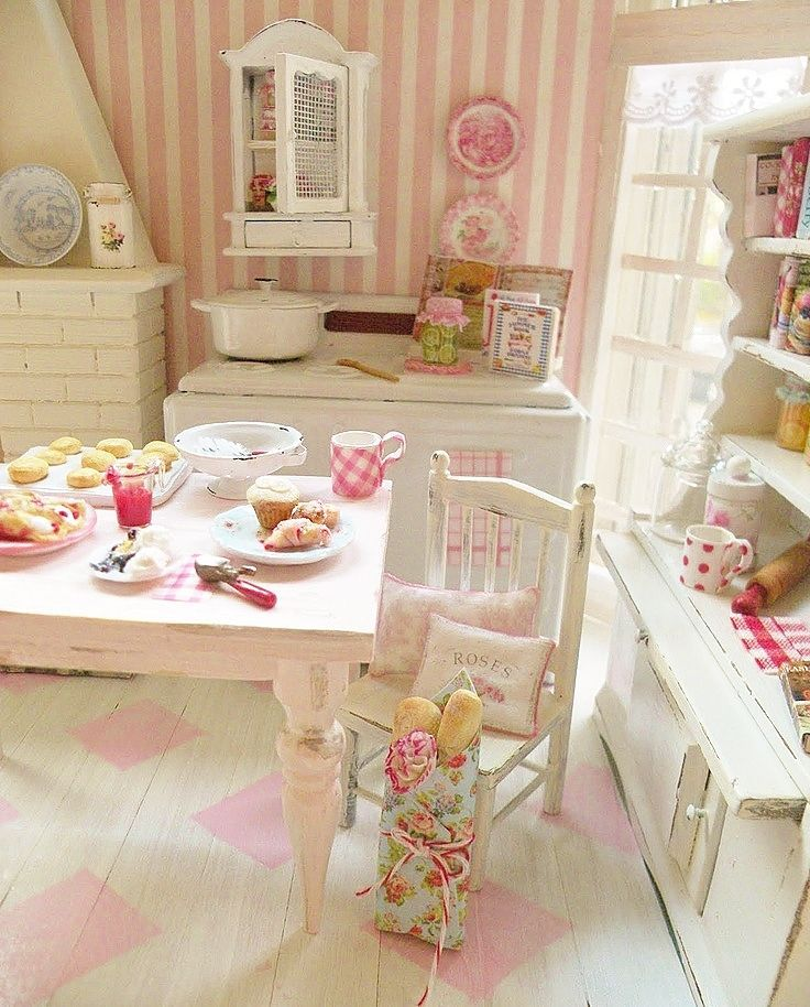 17 Best Images About ♦Shabby Chic Dollhouse Miniatures♦ On