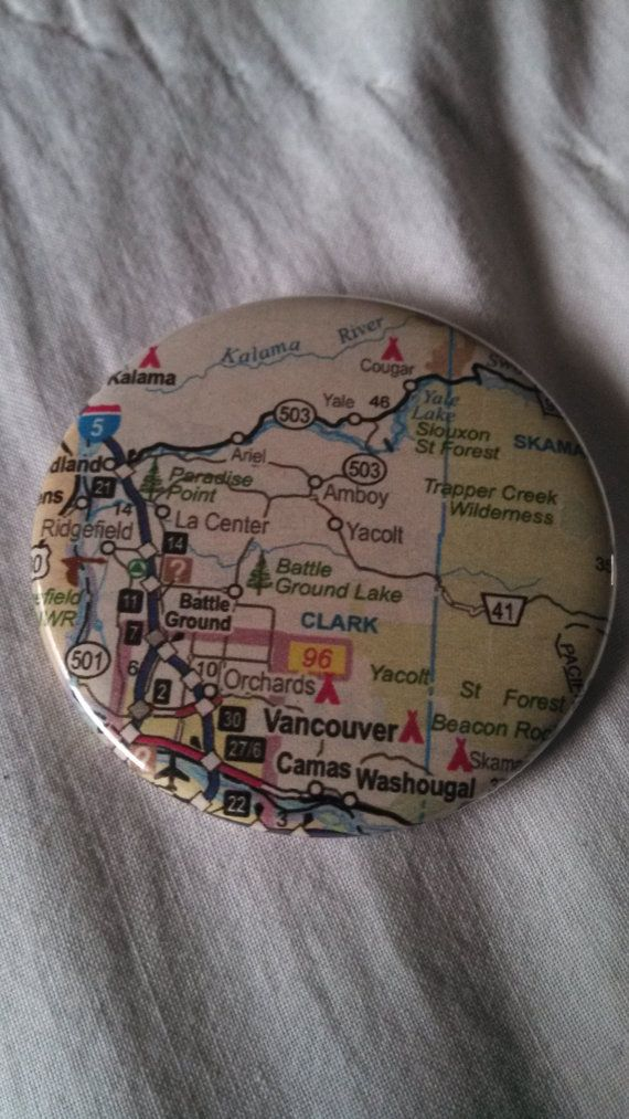 Map Of Oregon Breweries%0A Vancouver Washington residents and natives  show your pride with this  pinback button featuring a map of your home