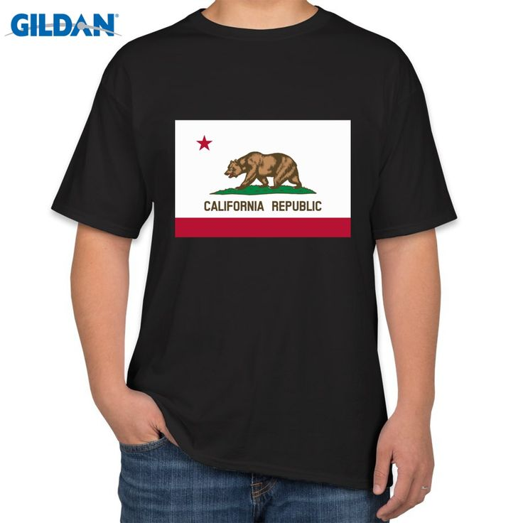 >> Click to Buy << 2017 fashion hot sell New California Republic Flag Short Sleeve T-Shirt by Pop Threads 100% cotton casual tops tee #Affiliate