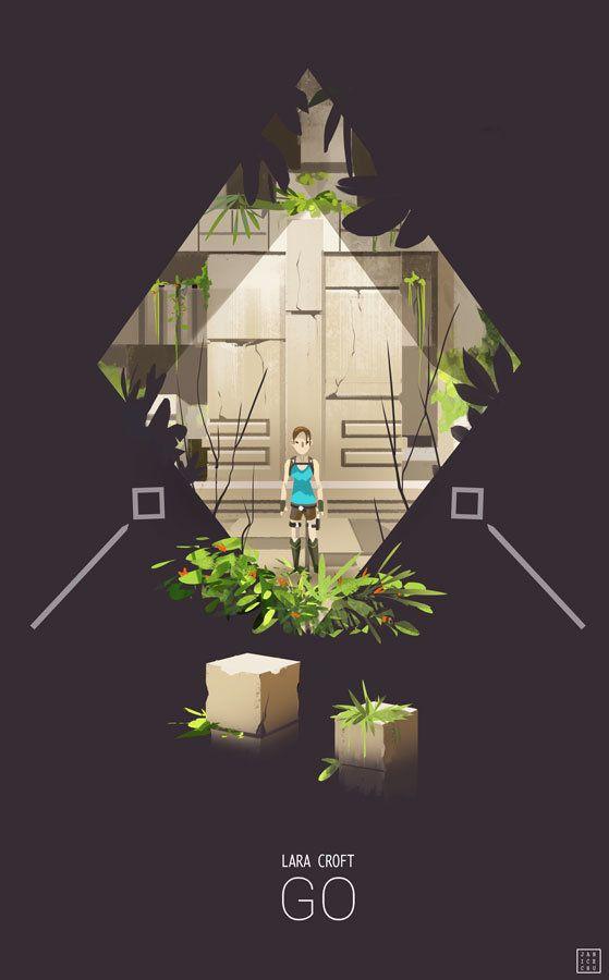 Lara Croft: GO, Janice Chu on ArtStation at https://www.artstation.com/artwork/lara-croft-go