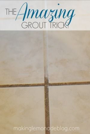 AMAZING trick for cleaning your grout using two things you probably have in your kitchen right now!