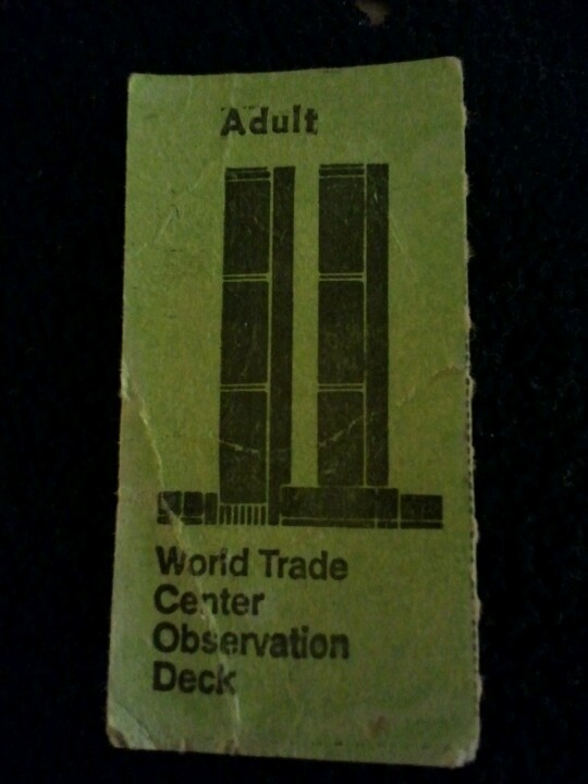 World Trade Center ticket stub from 1986