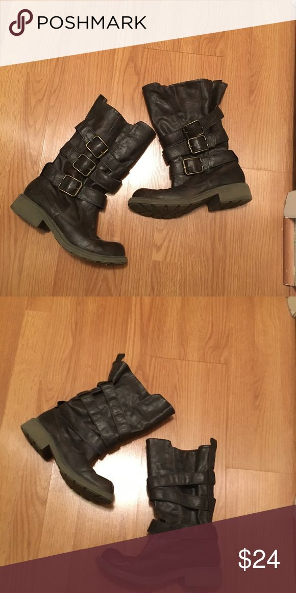 Big Buddha Boots This is the Big Buddha Casi boot!  Brown with brass colored hardware. Size 8. In great condition! Big Buddha Shoes
