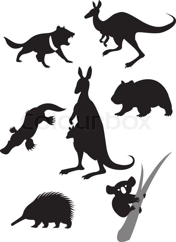 8843473-silhouettes-of-australian-animals.jpg 581 ×800 pixels