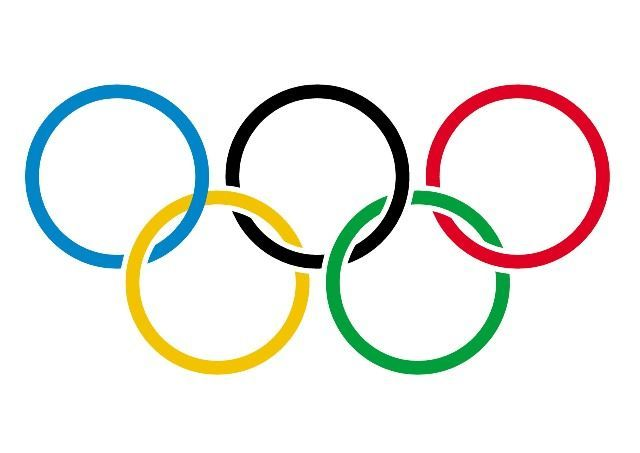 Olympic Rings. Greece,origin country of prestigious Olympic Games.