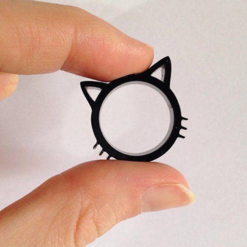Anel de gatinho preto (neko)