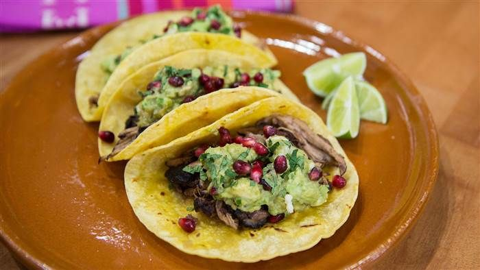 Today Show's Pomegranate Pork Tacos With Guacamole and Queso Fresco (Made With Boneless Pork Country Style Ribs)