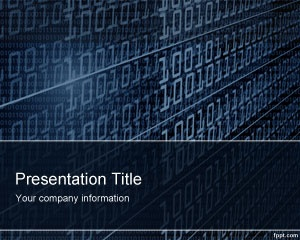 Free Technology Binary PowerPoint Template