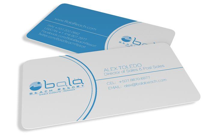 Bala Beach Resort business card design