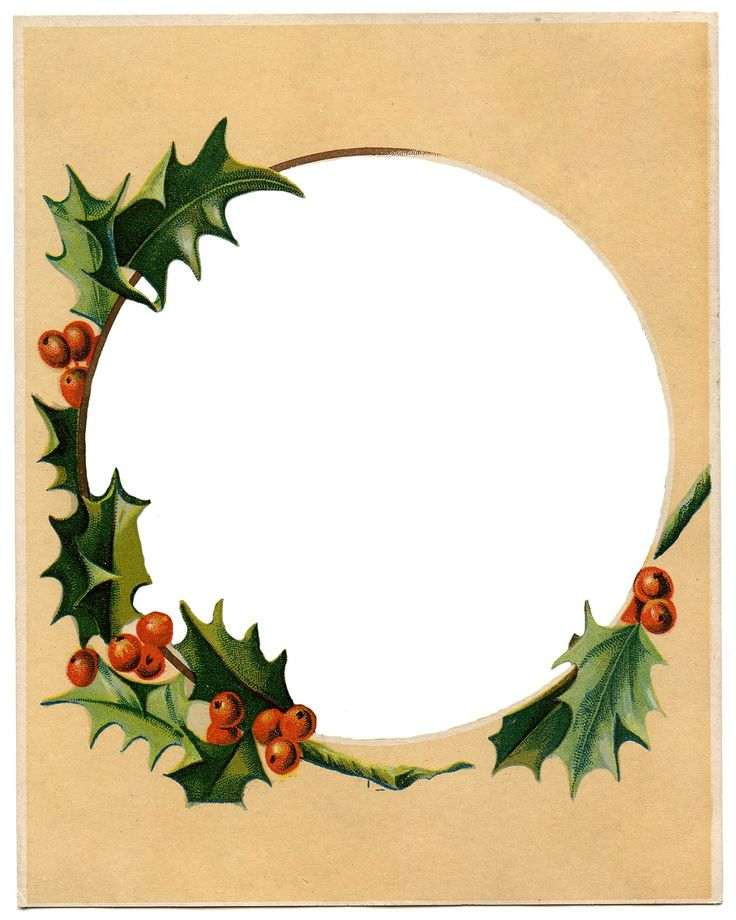 Antique Image Holly Frame: