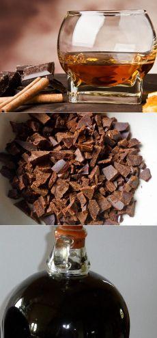 Как приготовить шоколадный коньяк в домашних условиях .