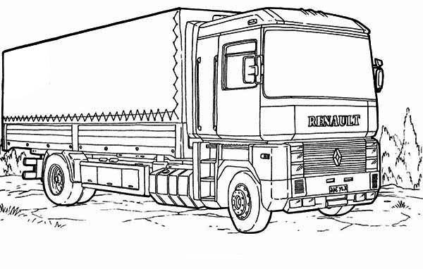 Semi Truck Coloring Pages   Truck coloring pages, Monster ...