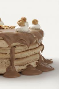 #Progrestaart van luchtig schuim en chocolade | #Gebak | #Recept | #Zoet