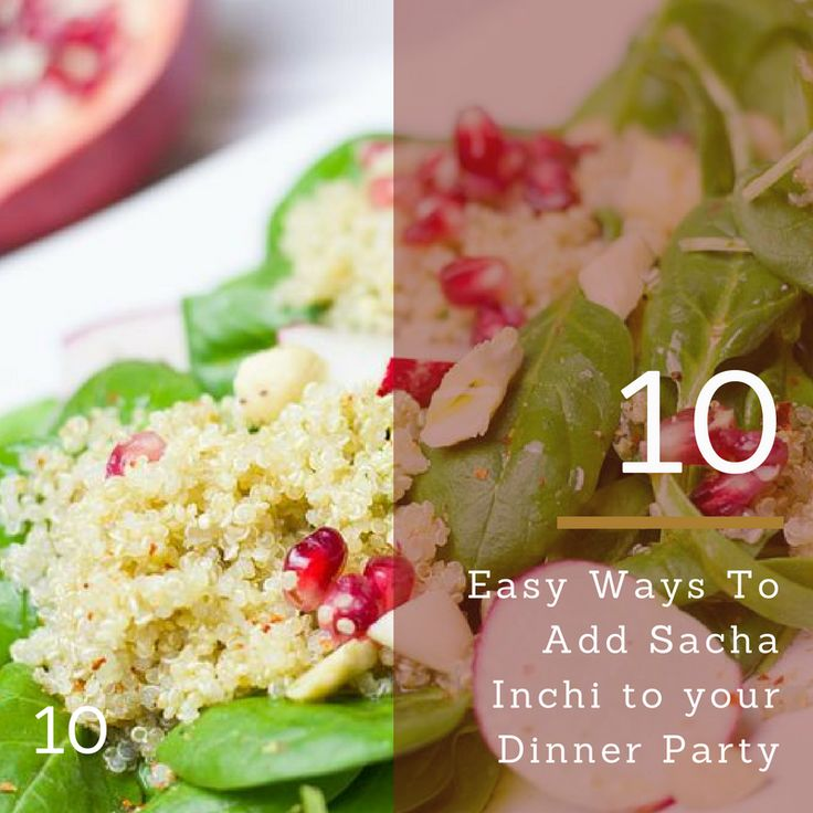 Round out your salad with some Sacha Inchi Oil for a great tasting Omega 3,6,9 full meal.