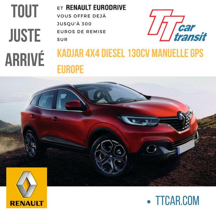 Promotion sur la tout juste arrivée Renault Kadjar 4x4 Diesel 130cv Manuelle GPS Europe: 300 € de remise
