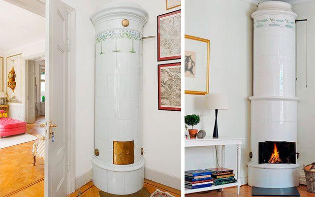 | Chimeneas suecas para una decoración con toques nórdicos