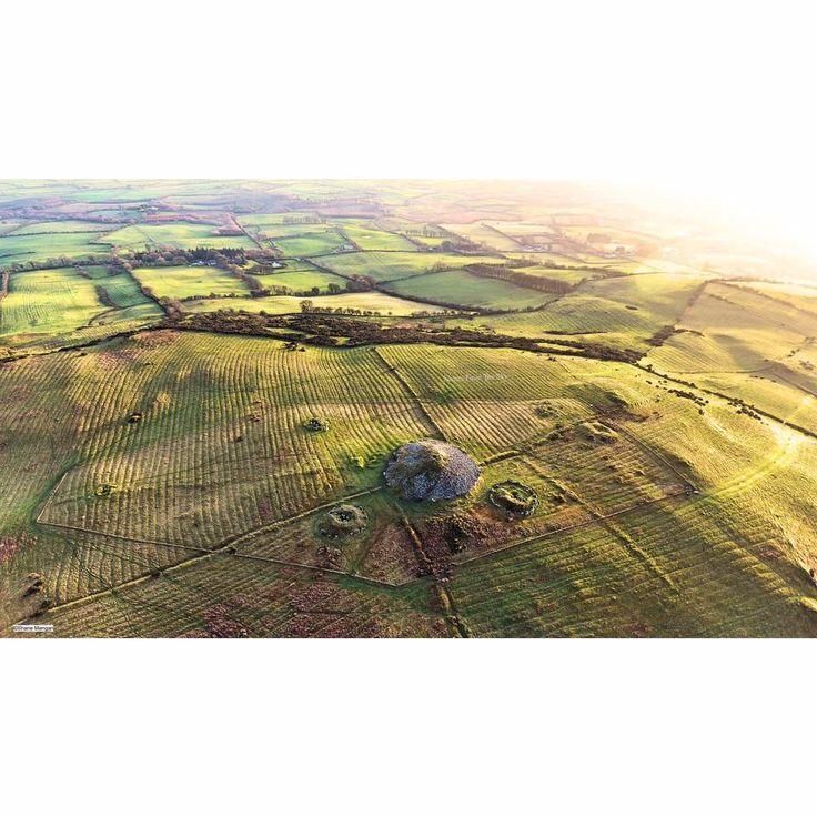 Aerial shot of the Loughcrew Cairns. Taken with a DJI Phantom #Drone