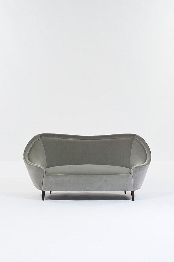 Absolutely gorgeous lines to this sofa.  A statement piece.  Ico Parisi Attributed; Sofa, 1950s.