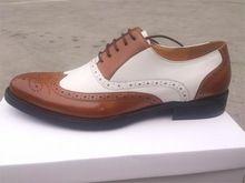 ONS maat 8-12 twee tone Lederen heren trouwjurk schoenen mens wingtip oxford schoenen Zwart Bruin Kant mannen schoenen(China (Mainland))