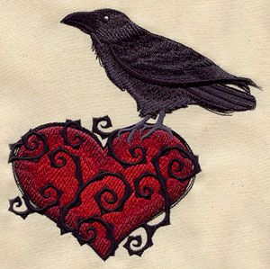 Ravenheart | Urban Threads: Unique and Awesome Embroidery Designs