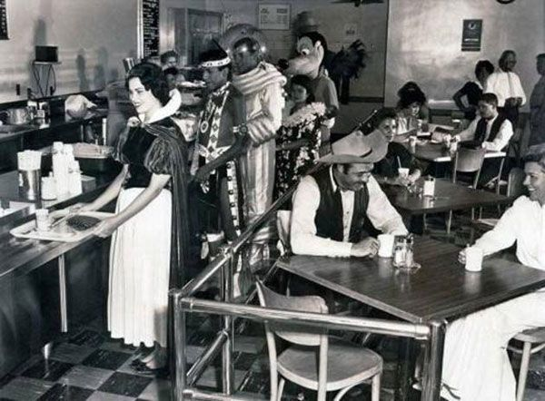 Disneyland employees lunch break 1961