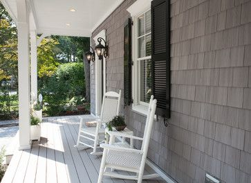 Best Cedar Shake Siding Gray House Black Shutters White 640 x 480