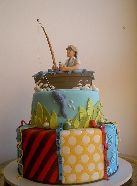 75 best fishing cakes images on pinterest for Bolo sport fishing
