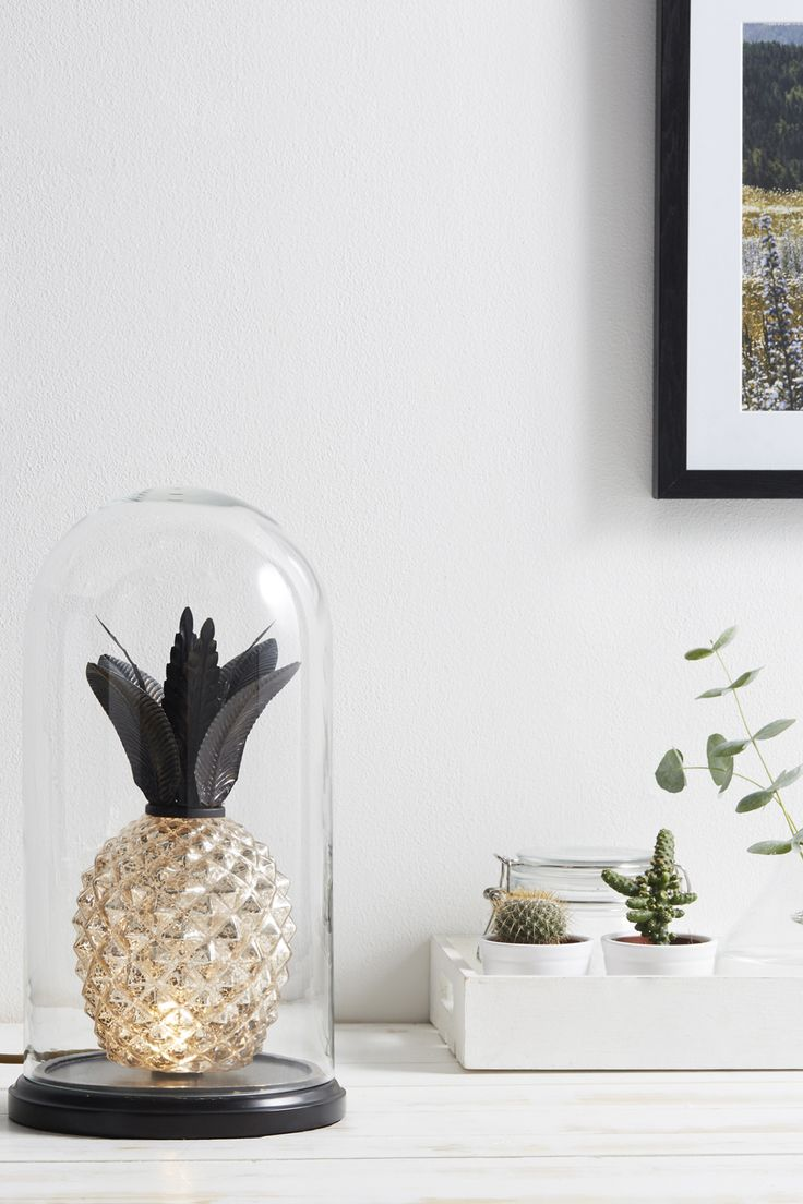Pineapple Cloche Table Lamp