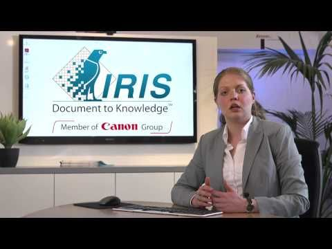 IRISXtract for Documents (Digital Mailroom Solution) [long version] - I.R.I.S. platform for the automatic processing of invoicing, purchase orders, HR and supplier records as well as for the case management in the legal, healthcare, and finance sectors