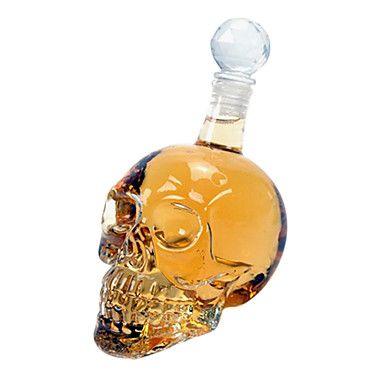 500 ml flaske i krystall med hodeskalleform - NOK kr. 119