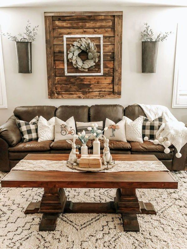 43 Likeable Rustic Style Apartment Living Room Decor Ideas With Elegant Look 45 Best Home Design Ideas In 2021 Farmhouse Decor Living Room Farmhouse Living Room Furniture Rustic Farmhouse Living Room