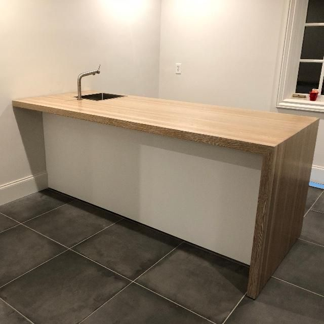 White Oak Edge Grain Butcher Block Countertop Butcher Block Countertops Countertops White Oak