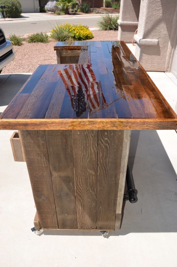 474 best images about outdoor bars and counter tops on for Diy wood bar top
