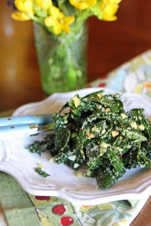 I had this amazing Tuscan Kale Salad  while in NYC at Il Buco - I was so smitten with it I searched for the recipe online and found it replicated by Valerie Rice.  Love her blog!