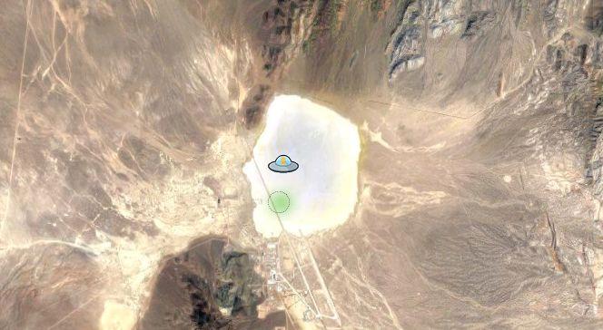 Pegman do Google Street View se transforma em disco voador na Área 51