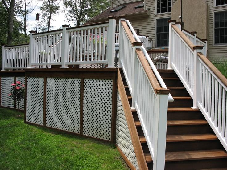 Restoration of mahogany deck by deck restoration plus for Decks plus